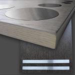 Stainless steel - INOX - furniture fronts