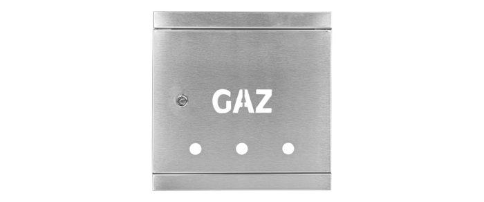 Door and frame 250x250  stainless steel INOX