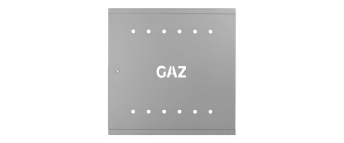 Door and frame 600x600 galvanized RAL 7037