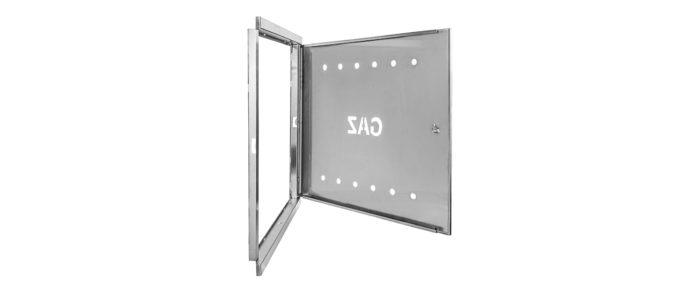 Door and frame 600x600  stainless steel INOX
