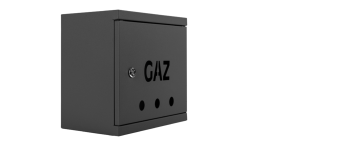 Meter Box Cover 250x250 galvanized RAL 7016