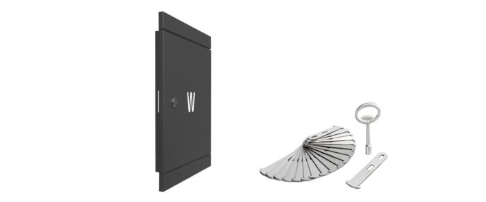 drzwiczki rewizyjne na zawór antracyt