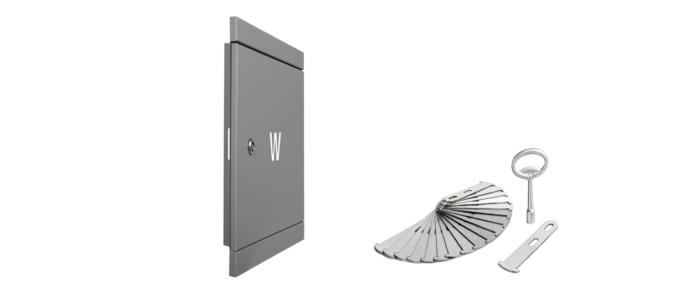 drzwiczki rewizyjne na zawór wody szare