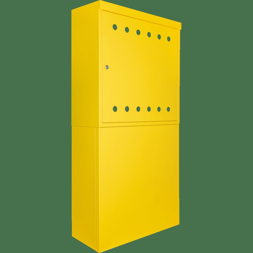 skrzynki z postumentem żółte