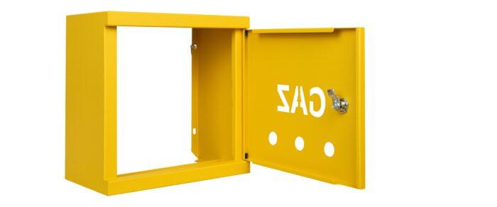 skrzynki gazowe żółte